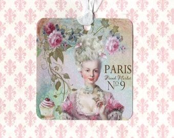 French Style Gift Tags -  Marie Antoinette -  Let Them Eat Cake
