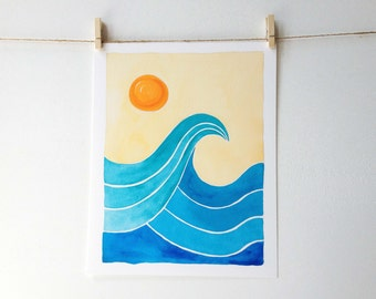 Wave Art - Surf Art - Beach Art - Surf Theme - Colorful Waves - Beach House