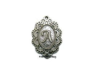 "8 pcs Antique Silver ""A"" Charm/Pendant - P56"