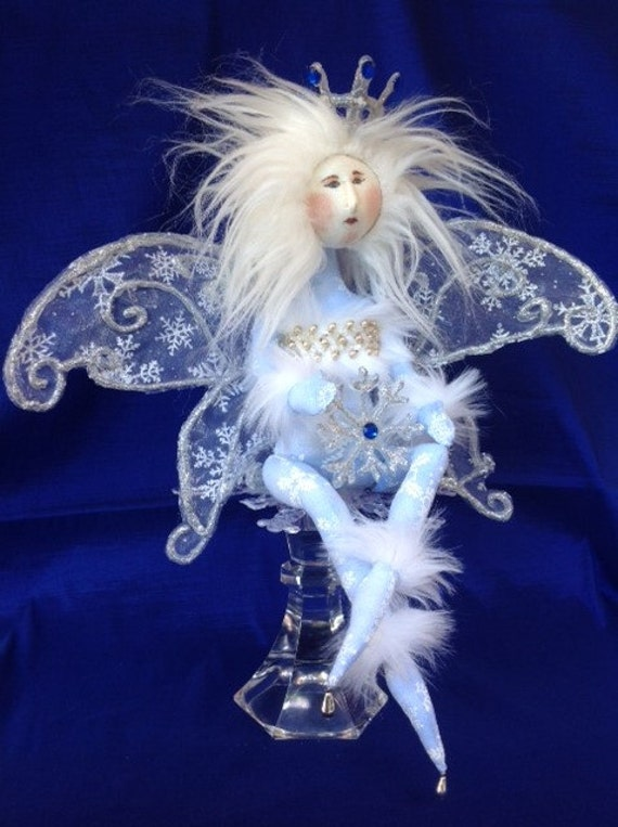 Snowflake Princess - Cloth Doll Mailed Pattern Beautiful Winter Wonderland Snow Fairy