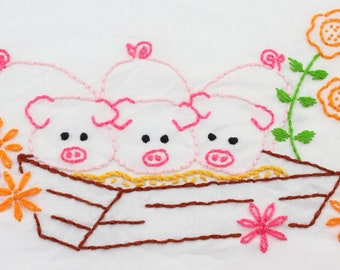 Farm Embroidery Design Tractor Embroidery Barnyard Embroidery Pattern Cow Embroidery Horse Design Hand Embroidery Pattern