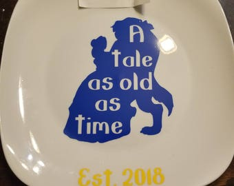 Beauty and the Beast Decorative Marriage Plate