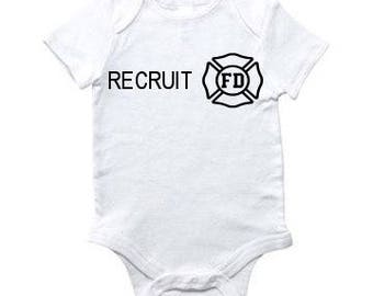 Firefighter Baby Onesies