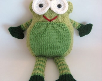 Sale - Amigurumi Knit Frog Pattern Digital Download