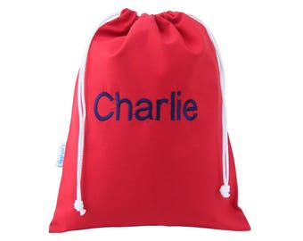 Personalised Wash Bag, Toiletry Bag - Red