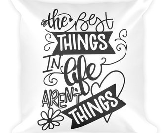 All the Best Things Throw Pillow