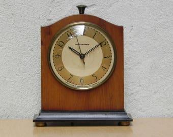 Masterchron 1940s Wood Mantel Clock by Hammond