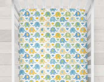 Elephant Crib Sheet Boy Elephant Nursery Bedding Baby Boy Elephant Bedding Fitted Crib Sheet Boy Baby Gift Elephant Changing Pad Cover