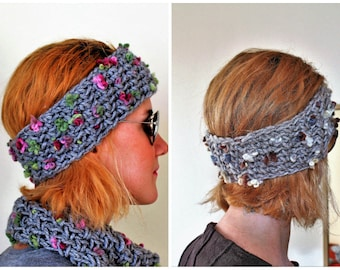 Knit hair gift, Galentines day gift, Girls winter accessories, Knit ear warmers, Boho knit headband, Wool headbands for women, FREE SHIPPING
