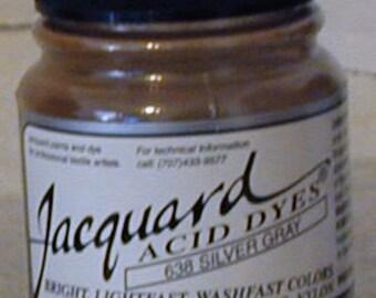 Silver Grey 638 Jacquard Acid Dye for Wool, Silk, Feathers, Nylon, any protein (animal) fiber. Add vinegar and heat to powder.