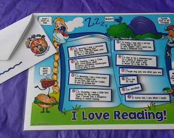 Reading Chart with tabs and velcro made by Organize it Mom