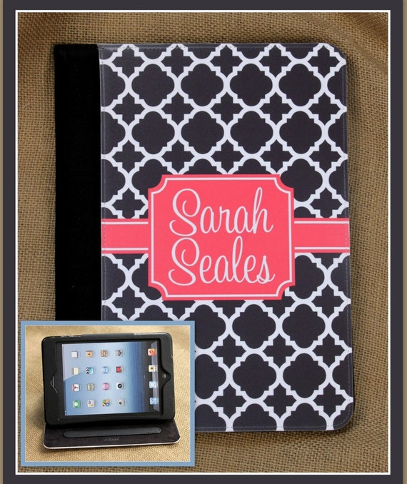 iPad Air 2 iPad 2 iPad 3 iPad Air iPad Mini Masker Case Cover Monogrammed Personalized Custom Adjustable Angle View Stand Notebook Case