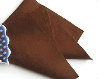 Brown Wool Felt, Pure Merino Wool, Felt Sheet, Choose Size, DIY Craft Supply, Felt Toys,  Wool Applique, Waldorf Handwork, Chocolate Brown