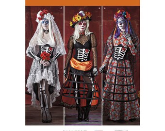 Simplicity 1033 Misses' Day of the Dead Costumes