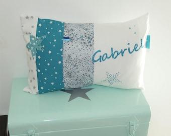 Customizable liberty Adelajda blue cushion 30 x 50 to order