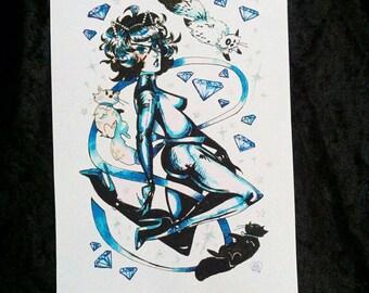 Cat Burglar - Matte art print