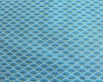 Graphic fabric coupon 50 x 70 cm Emerald