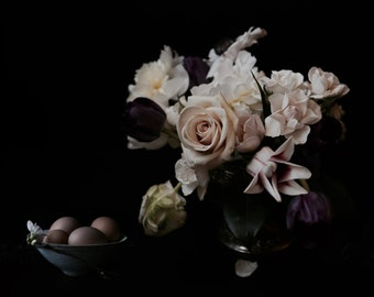 Dark Floral Modern Flower Photography Large Scale Fine Art Photography