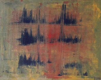 "Original Abstract Acrylic on Canvas - Morning (18""x24"")"
