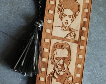 Horror Bookmark, Movie Bookmark, Hollywood Horror, Bookmark, Dracula Bookmark, Frankenstein Bookmark, Wolfman Bookmark