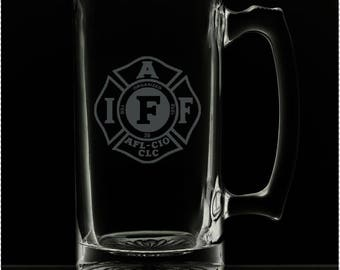 25 Ounce International Association of Firefighters Personalized Beer Mug