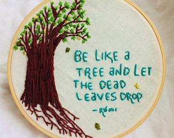 Rumi Tree Embroidery Hoop
