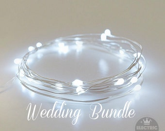 Winter Wedding Decor, String Lights, Fairy Lights, Wedding Decoration, Cool White, Led Centerpieces, Battery Operated, 6.6ft, White Wedding
