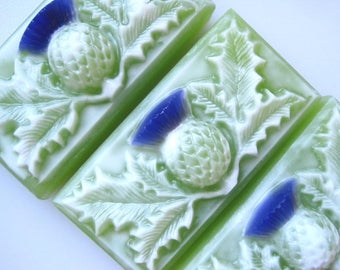 Thistle Soap with fragrance of Spring Rain...scent of a fresh floral bouquet.