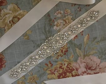 BEST SELLER-Wedding-Accessories-Wedding Sash-Wedding Belt-Bridal Belt-Bridal Sash-Bridesmaid Sash-Applique-Rhinestones-Crystal Sash-Belt