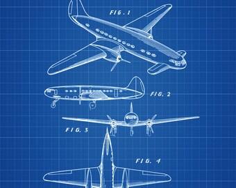 1939 Lockheed Airplane Patent - Vintage Airplane, Airplane Blueprint, Airplane Art, Pilot Gift,  Aircraft Decor, Airplane Poster,