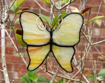 Stained Glass Butterfly Ornament or Suncatcher