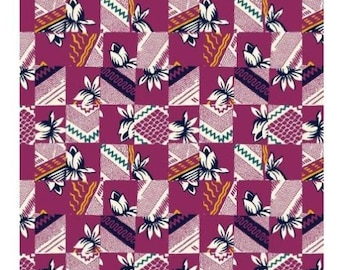 """Floral Fabric: Mary Fons Small Wonders India Floral Fabric 100% cotton Fabric by the yard 36""""x43""""  (G146)"""
