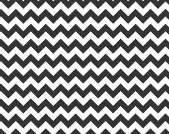 SALE Chevron Black Small Cotton Fabric - Riley Blake Fabrics - 1 Yard