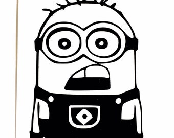 DIY Minion Vinyl Decal, Despicable Me Decal, Cartoon Decal, Minion Jerry, Car Window Decal, Laptop Decal, Tablet Decal, Drinkware Decal
