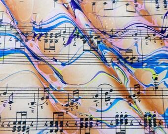 Orange You Happy- handmade marbled sheet music