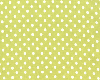 Dumb Dot in Limeade Premium Cotton Fabric by Michael Miller