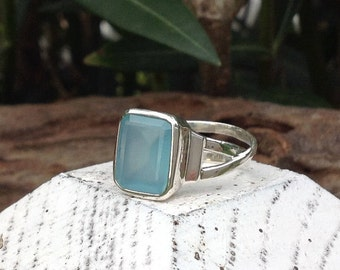 DELHI ring - Blue calcidon