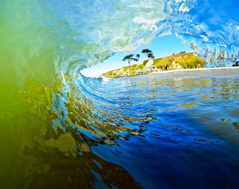 Wave Art Photograph, Surf Photo,  California Beach Style , Photography Waves, Santa Cruz Beaches Prints