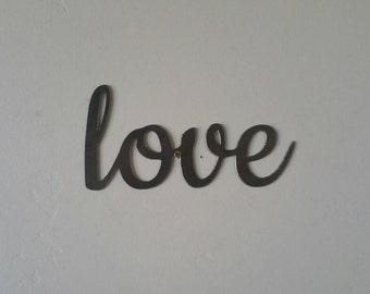 Love Metal Sign, Love Sign, Love Metal Word, Love Metal Art