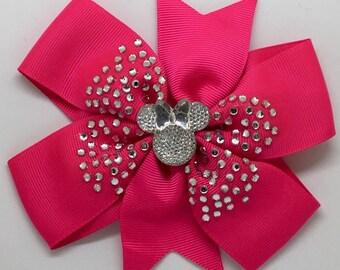 Minnie Mouse - Large: 12.5cm Pinwheel Hair Bow Clip