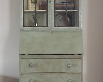 SOLD!! Vintage Secretary Desk/Farmhouse hutch
