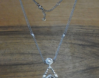 Tears of Joy Sterling Silver Floral Necklace