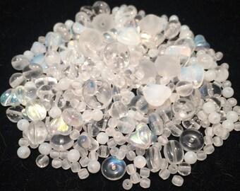 Czech Glass Bead Mix, Crystal Mix, 00009, 50 Grams