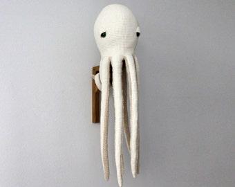 Big Albino Octopus Stuffed Animal <0> Plush Toy <0> Cotton & Cotton Faux Fur