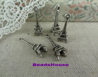 20%off  10pcs Antique Brass Plated Eiffel Tower Charms / Pendants,Nickel Free