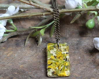 Yellow Wildflower Necklace