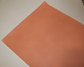 Peach Faux Leather Sheet - DIY - Vinyl sheet - Hair Bows - Headbands - Hair Clips - Embroidery, Journal Covers, Jewelry, coin purses