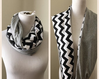 Black and gray- Raiders scarf
