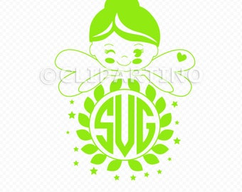 Fairy SVG-little fairy-cut file-cricut explore-forest fairy printable-monogram