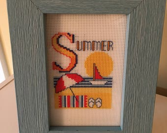 Summer on the Beach Counted Cross Stitch